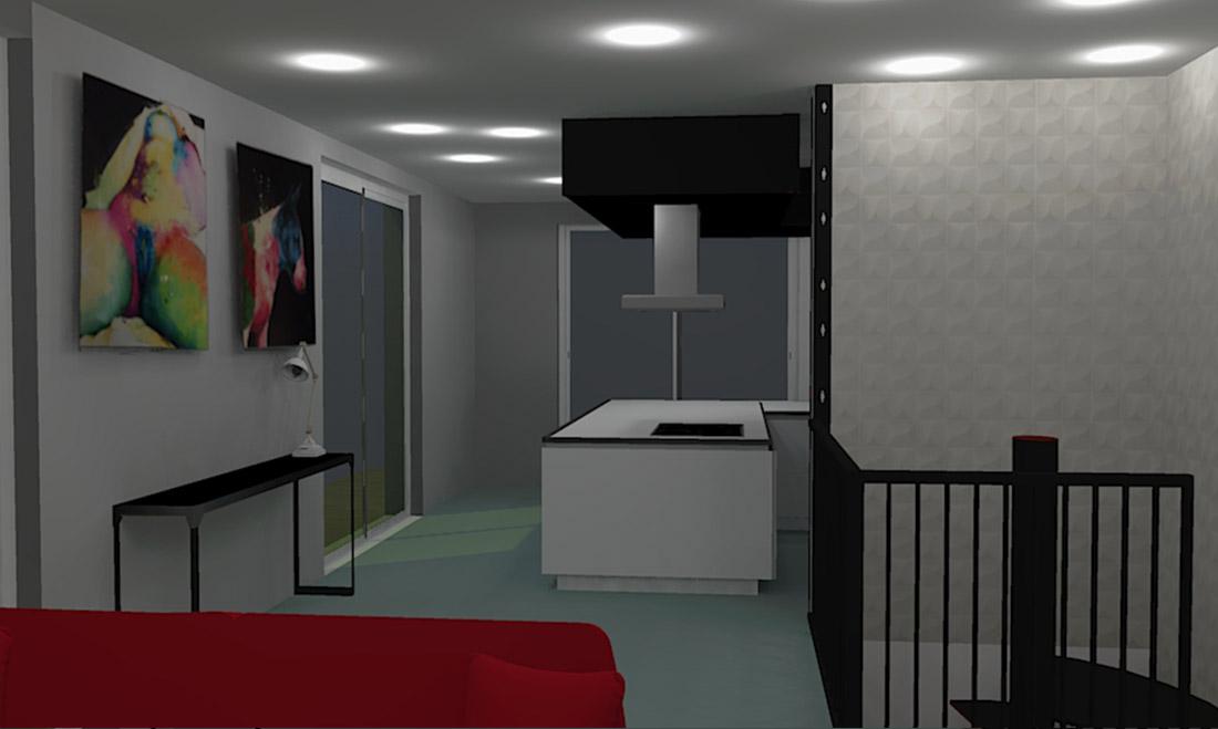 Projet Déco, Recherche ambiance Industriel & Galerie d'Art, Conception plans 3D (St Génies de Malgoires 30)