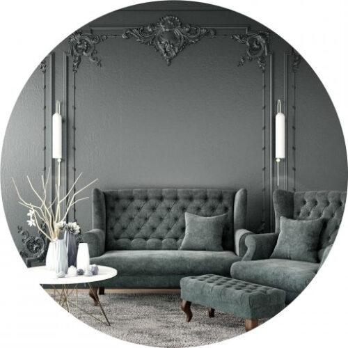 Peinture vert grisé haut de gamme pour mur et plafond