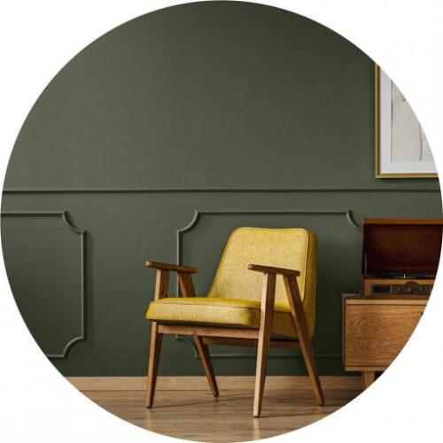 Peinture vert kaki haut de gamme pour mur et plafond