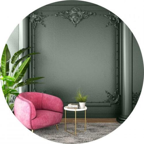 Peinture verte haut de gamme pour mur et plafond