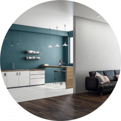 Peinture bleu cobalt haut de gamme pour mur et plafond