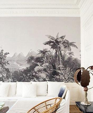 Décoration murale en papier peint pour salon et salle a manger