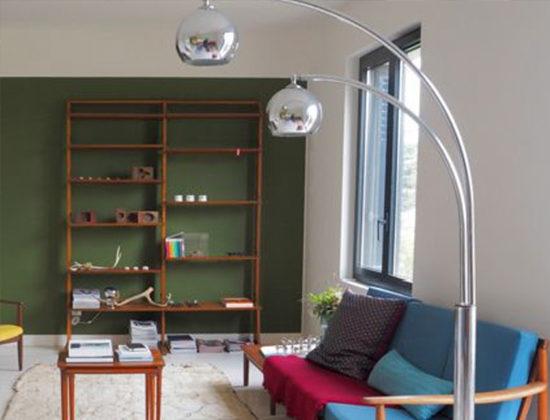Relooking salon, homestaging et déco murale peinture et papier peint