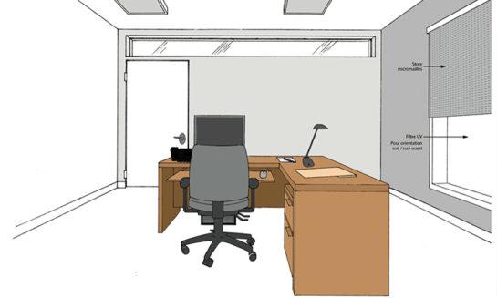 Plan 3D pour une rénovation d'intérieur d'un bureau