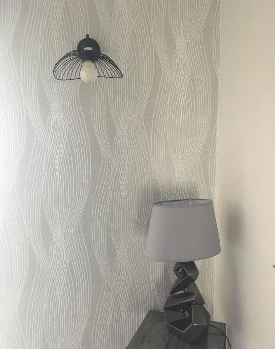 Décoration murale papier peint d'une chambre à Montpellier