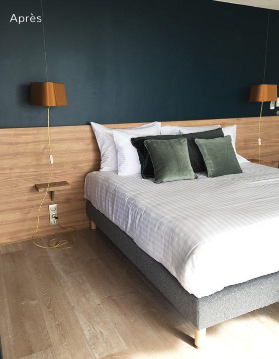 Projet de home staging d'une chambre d'hotel dans l'Hérault