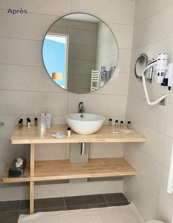 Rénovation travaux décoration d'intérieur de toilettes d'un hotel