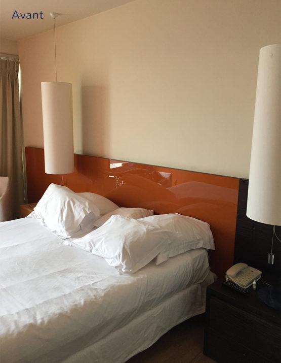 Projet home staging et décoration d'une chambre d'hotel