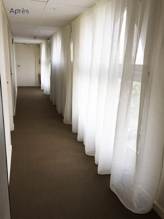 Projet home staging couloir d'un hôtel à la Grande Motte